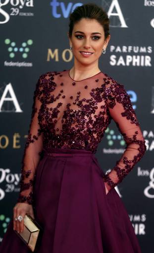 Spanish actress Blanca Suarez poses on the red carpet before the Spanish Film Academy's Goya Awards ceremony in Madrid
