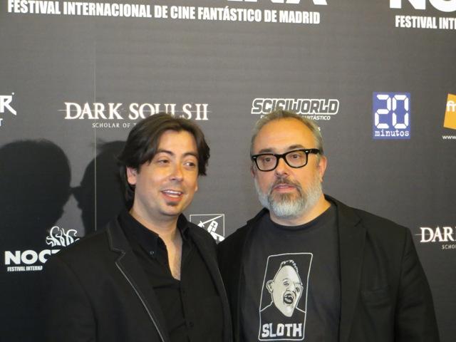 Luis Rosales y Álex de la Iglesia