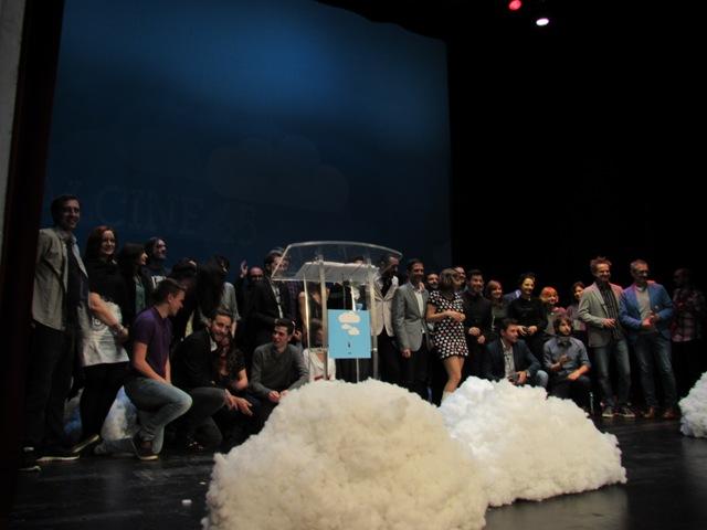 Foto de famila de los ganadores Alcine 45