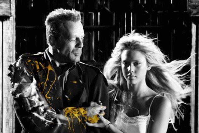 Bruce Willis y Jessica Alba
