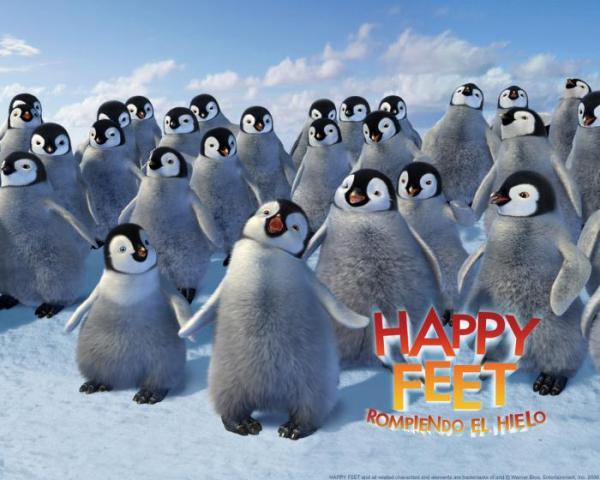 Happy Feet Rompiendo el hielo