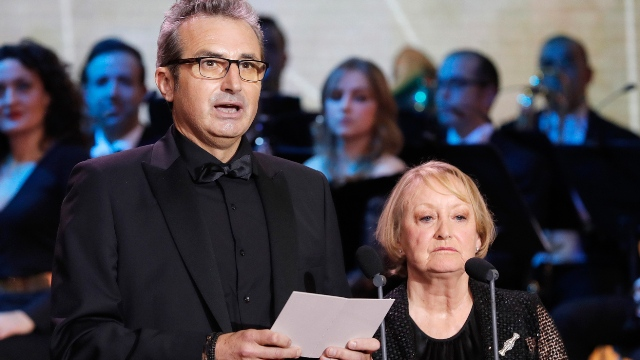 Yvonne Blake y Mariano Barroso