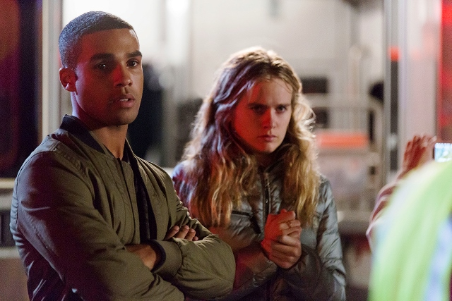 (Left to Right) Lucien Laviscount and Cressida Bonas in THE BYE BYE MAN
