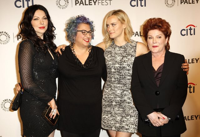 "03/14/2014 - Laura Prepon, Jenji Kohan, Taylor Schilling and Kate Mulgrew - 2014 PaleyFest - ""Orange is the New Black"" - Arrivals - The Dolby Theatre - Hollywood, CA, USA - Keywords:  Orientation: Portrait Face Count: 1 - False - Photo Credit: Emiley Schweich / PR Photos - Contact (1-866-551-7827) - Portrait Face Count: 1"