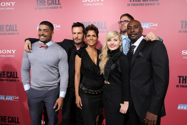 March 5, 2013 - Hollywood, CA: David Otunga, Michael Eklund, Halle Berry, Abigail Breslin, Director Brad Anderson and Morris Chestnut at the World Premiere of TriStar Pictures' THE CALL at Arclight.