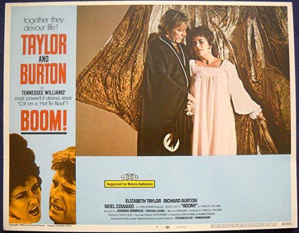 Boom!», película protagonizada por Taylor y Burton
