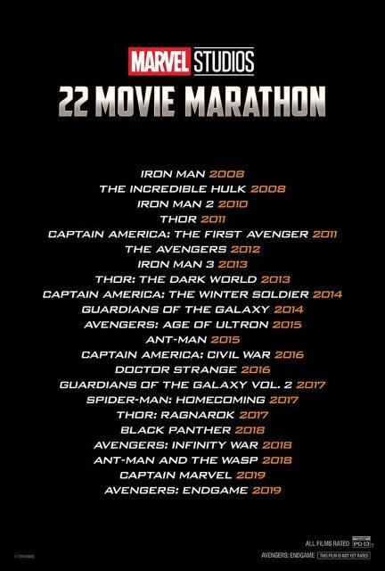 Todas las películas del UCM